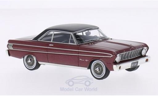 Ford Falcon 1/43 Neo Sprint metallise rouge/matt-noire 1964 miniature