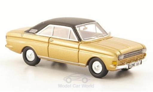 Ford Taunus 1968 1/87 Neo P6 15M Coupe gold/matt-noire UN miniature