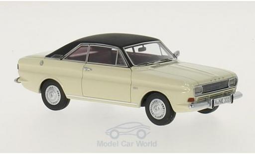 Ford Taunus 1968 1/43 Neo P6 15M Coupe blanche/noire miniature