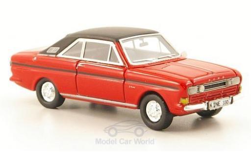 Ford Taunus 1968 1/87 Neo P6 15M  Coupe rouge/matt-noire 1968 miniature