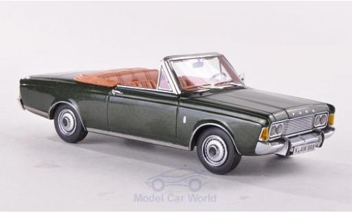 Ford Taunus 1970 1/43 Neo (P7b) 26M Cabriolet Deutsch metallise verte miniature