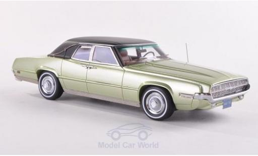 Ford Thunderbird 1969 1/43 Neo Landau metallise green/matt-black diecast model cars