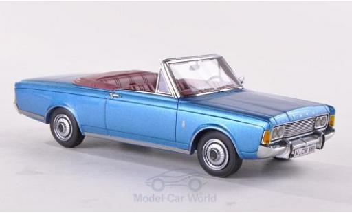 Ford Taunus 1970 1/43 Neo Limited 300 (P7b) 26M Cabriolet Deutsch metallise bleue miniature