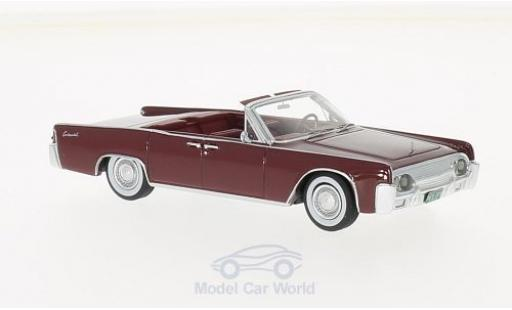 Lincoln Continental 1/43 Neo 53A Convertible rouge 1961 miniature