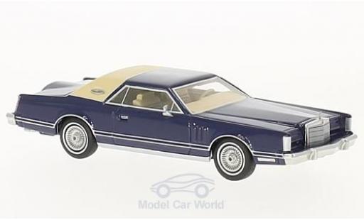 Lincoln Continental 1/64 Neo Mark V bleue/beige 1977 miniature