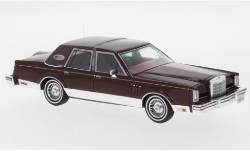 Lincoln Continental 1/43 Neo Mark VI Signature Series metallise rot 1980 modellautos