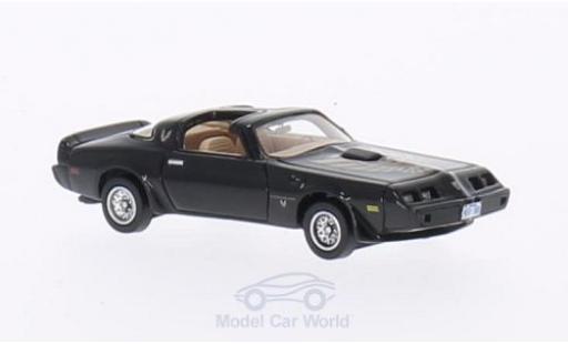Pontiac Firebird 1979 1/87 Neo Trans Am noire/Dekor miniature