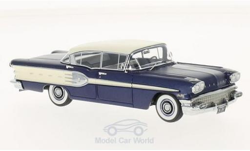 Pontiac Star Chief 1/43 Neo 4-Door Sedan metallise bleue/blanche 1958 miniature