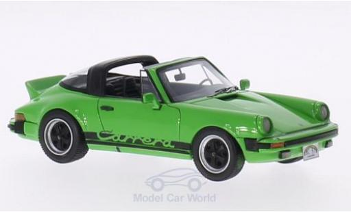Porsche 930 Targa 1/43 Neo 911 Carrera verte/Dekor 1985 US-Version miniature