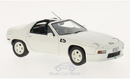 Porsche 928 1979 1/43 Neo BB Targa white diecast model cars