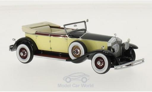 Rolls Royce Phantom 1/43 Neo I Newmarket jaune/noire 1929 miniature