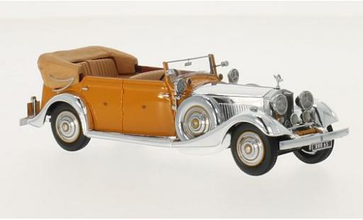 Rolls Royce Phantom 1/43 Neo II Thrupp & Maberly chrom/orange RHD 1934 Star of India miniature