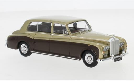 Rolls Royce Phantom 1/43 Neo VI EWB gold/marron RHD 1968 miniature