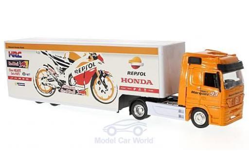 Mercedes Actros 1/43 New Ray Repsol Honda Team mit Kastenauflieger miniature
