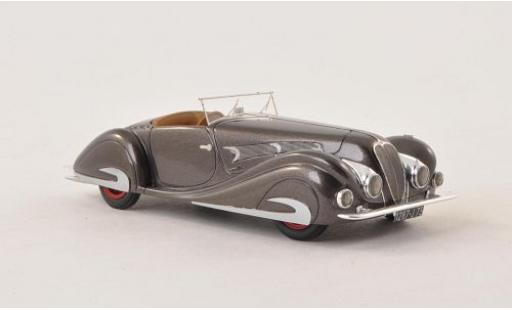 Delahaye 135 1/43 Nickel MS Competition Roadster Figoni & Falaschi metallise grise 1937 sn48563 miniature
