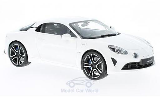 Alpine A110 1/18 Norev metallise white 2017 diecast model cars