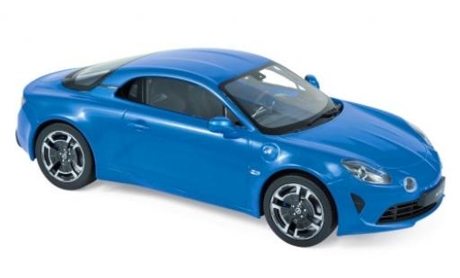Alpine A110 1/18 Norev Renault Legende metallise blue 2018 diecast model cars