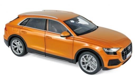 Audi Q8 1/18 Norev metallise orange 2018 miniature