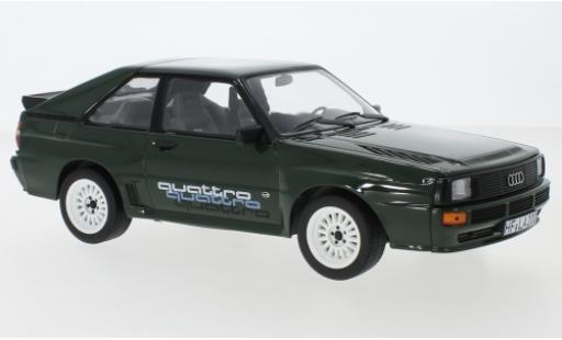 Audi Sport Quattro 1/18 Norev Sport quattro green/Dekor 1985 diecast model cars