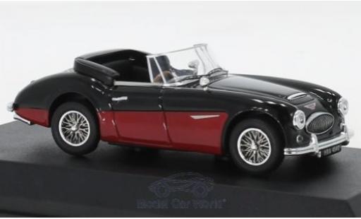 Austin Healey 3000 1/43 Norev MK3 noire/rouge RHD 1964 miniature