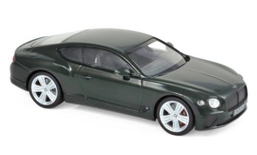 Bentley Continental 1/43 Norev GT verde 2018 modellino in miniatura