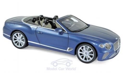Bentley Continental 1/18 Norev GTC metallise bleue 2019 miniature