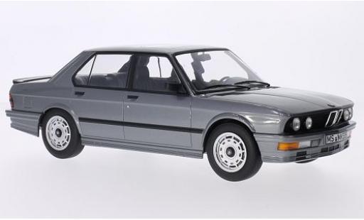Bmw M5 1/18 Norev 35i (E28) metallise grigio 1986 modellino in miniatura
