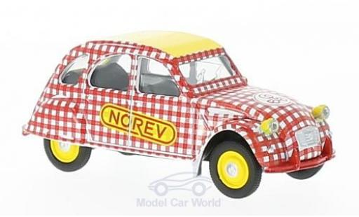 Citroen 2CV 1/64 Norev 6 Special red/white Cycliste (F) 1980 diecast model cars