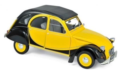 Citroen 2CV 1/18 Norev Charleston jaune/noire 1982 miniature