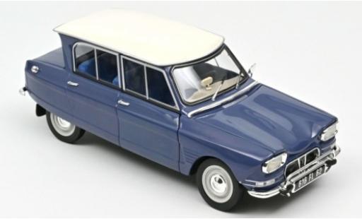 Citroen Ami 6 1/18 Norev blue/white 1965 diecast model cars