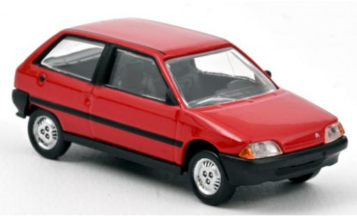 Citroen AX 1/64 Norev red 1986 diecast model cars