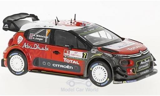 Citroen C3 1/43 Norev WRC No.7 WRC Rallye Polen 2017 A.Mikkelsen/A.Jaeger miniature