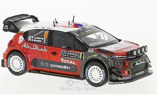 Citroen C3 1/43 Norev WRC No.8 WRC Rallye Monte Carlo 2017 S.Lefebvre/G.Moreau miniature