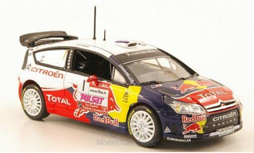Citroen C4 WRC 1/43 Norev No.1 Racing Red Bull Total Rallye du Var 2009 S.Loeb/S.Loeb miniature