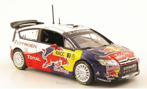Citroen C4 WRC 1/43 Norev No.1 Racing Red Bull -Total Rallye Spanien 2009 S.Loeb/D.Elena miniature