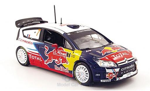 Citroen C4 WRC 1/43 Norev No.7 Racing Red Bull Total Rallye Portugal 2010 S.Ogier/J.Ingrassia miniature