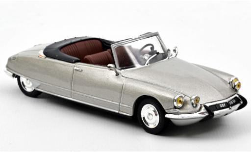 Citroen DS 1/43 Norev 19 Cabriolet metallise grise 1965 Softtop couché avec miniature