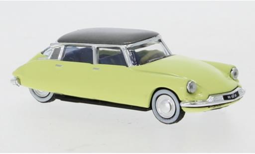 Citroen DS 1/87 Norev 19 jaune/metallise grise 1958 miniature