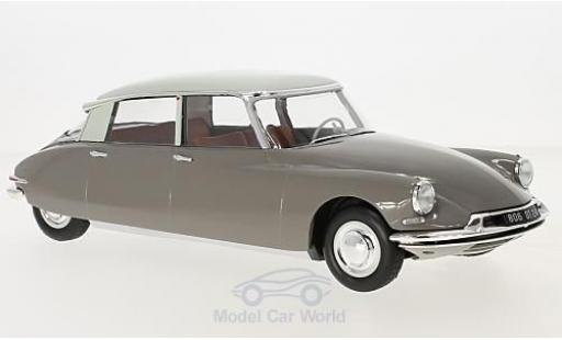 Citroen DS 19 1/18 Norev grey/grey 59 diecast model cars
