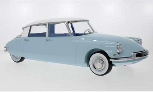 Citroen DS 19 1/18 Norev bleue/blanche 59 miniature