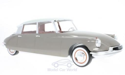 Citroen DS 19 1/12 Norev marron/blanche 59 miniature