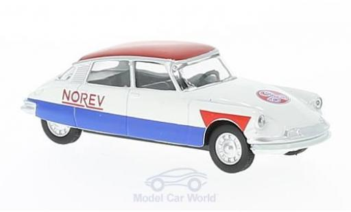 Citroen DS 19 1/64 Norev white/red Cycliste (F) 58 diecast model cars