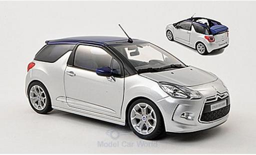 DS Automobiles DS3 1/18 Norev Citroen grise 2013 Verdeck in 3 Positionen darstellbar miniature