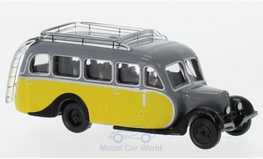 Citroen U23 1/87 Norev Autocar yellow/grey 1947