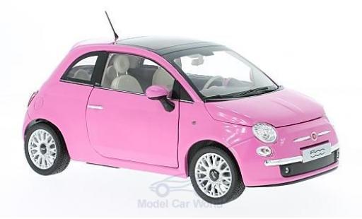 Fiat 500 1/18 Norev C pink 2010 ohne Vitrine diecast model cars