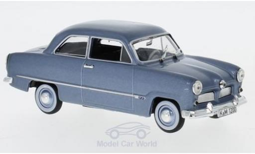 Ford 12M 1/43 Norev metallic blue 1954 diecast