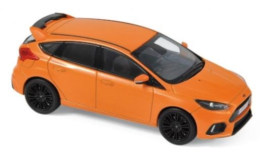 Ford Focus 1/43 Norev RS metallise orange 2018 diecast model cars