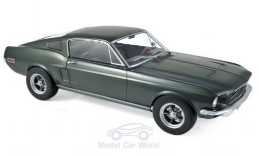 Ford Mustang 1/12 Norev Fastback metallise verte 1968 miniature