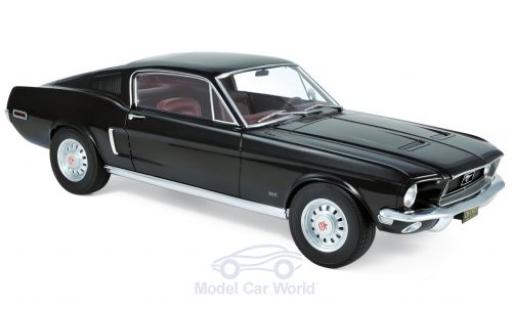 Ford Mustang 1/12 Norev Fastback black 1968 diecast model cars