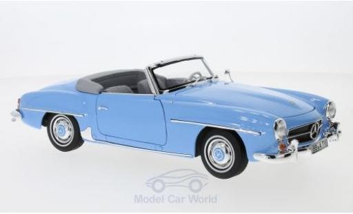Mercedes 190 SL 1/18 Norev SL hellblau 1957 SoftTop liegt ein modellautos